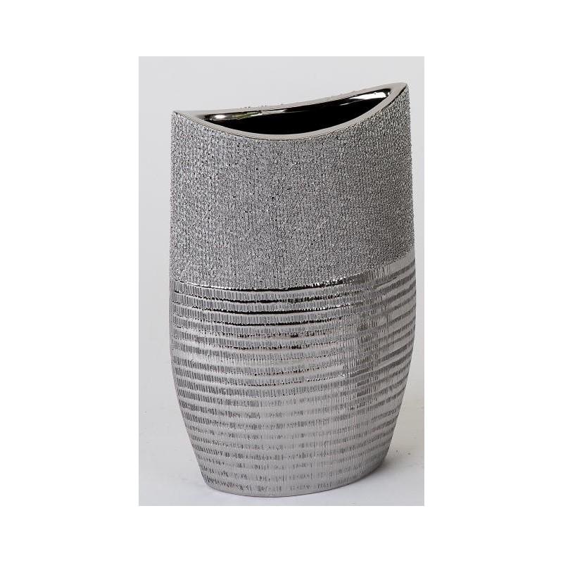 formano edle Blumenvase mit Silberstreifen, 15x24 cm