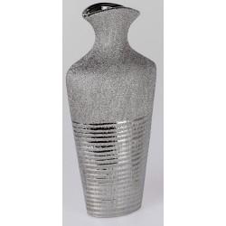 formano edle moderne Blumenvase mit Silberstreifen, 30 cm