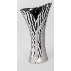 formano moderne Blumenvase in Wave silber, 40 cm